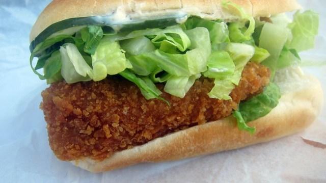 fried chicken sandwich at ink.sack