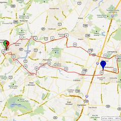 08. Bike Route Map. Princeton NJ