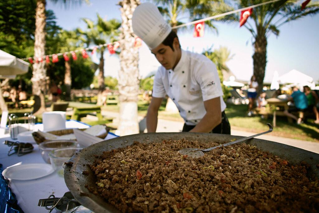 preparing turkish wraps
