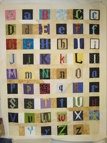 Harry Potter Alphabet quilt top