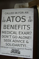 ATOS PROTEST BANNER