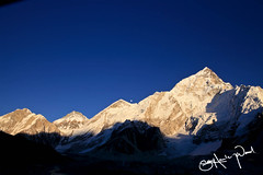 Moon Rising Over Everest
