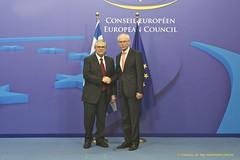 President Van Rompuy welcomes Lucas Papademos,...
