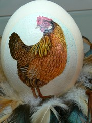 auf ein Ei gemalt