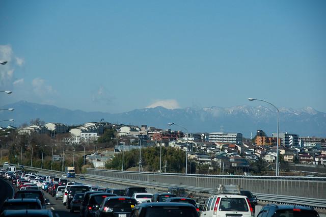 富士山と渋滞