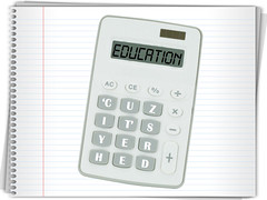 Education Calculator on Notebook