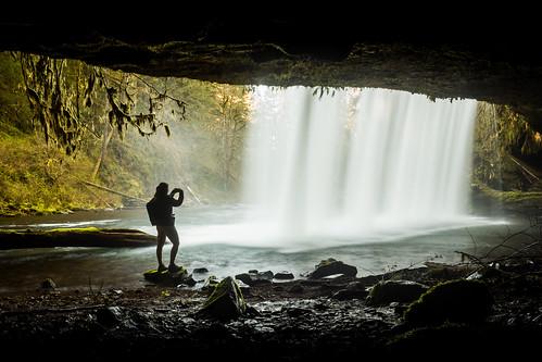 Behind upper Butte Creek falls, Portland