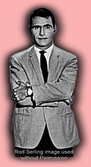 Rod Serling (with shadow on pink bkgrd)