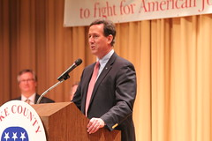 Rick Santorum speaks in Eastlake, Ohio