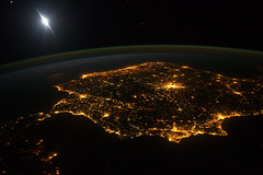 Iberian Peninsula at Night (NASA, Internationa...