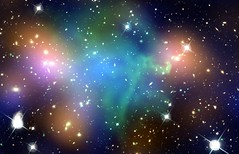 Galaxy Cluster Abell 520 (NASA, Chandra, Hubbl...