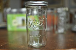 front of new pint & half jar