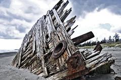 PESUDA ship wreck, Tlell, BC in HDR