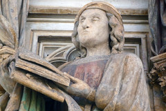 Detail of Jeremiah Holding Book: Claus Sluter,...