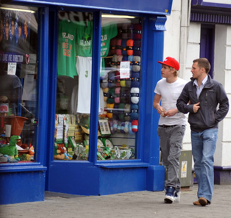 One Direction singer Niall Horan out and about in his hometown of Mullingar, where he went to lunch with his mother and brother at Danny Byrnes Pub Dublin, Ireland - WENN.com