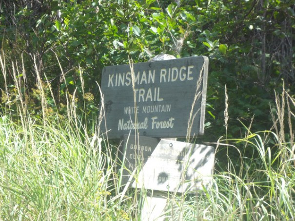 Kinsman Ridge Trail Sign on NH Appalachian Trail