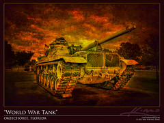 Old-World-War-Tank-Textured-Photo-Art