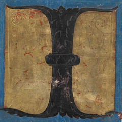 """Initial """"I"""" - from a 16th century ma..."""