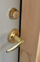 """Brass-Mul-T-Lock-Electronic-Schlage-Lever • <a style=""""font-size:0.8em;"""" href=""""http://www.flickr.com/photos/61091887@N02/7244827808/"""" target=""""_blank"""">View on Flickr</a>"""