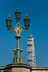 Lamp on Westminster Bridge with London Eye