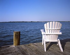 Adirondack Chair on Dock, 4x5 Slide
