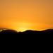 Sunset over Mallorca mountains