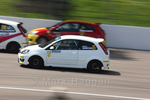 Fiesta Championship at the BRSCC Weekend at Rockingham, May 2016