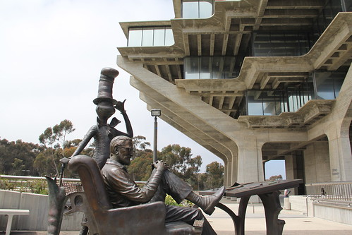 Image result for San Diego Geisel Library cat in the hat