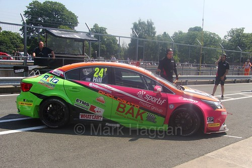 Jake Hill during the BTCC weekend at Oulton Park, June 2016