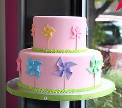 Fondant Pinwheel Cake