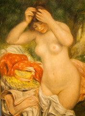 Bather Arranging Her Hair, by P.A. Renoir, 1893