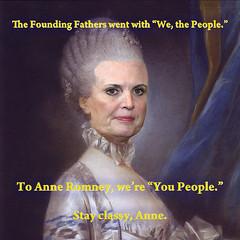 Let 'em eat cake, huh, Anne?