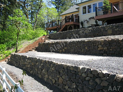 WM AA7, Alan Ash, redtail steps, retaining wall, dry laid stone construction, copyright 2014