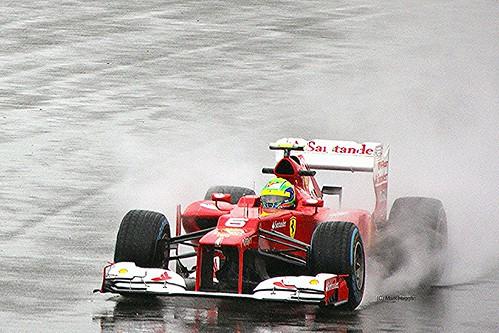 Felipe Massa's Ferrari at Silverstone