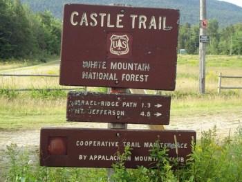Mt. Jefferson Castle Trail Sign