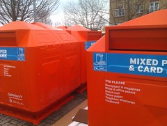 Orange Recycling Bins