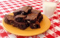 Homemade Chocolate Brownies and Milk