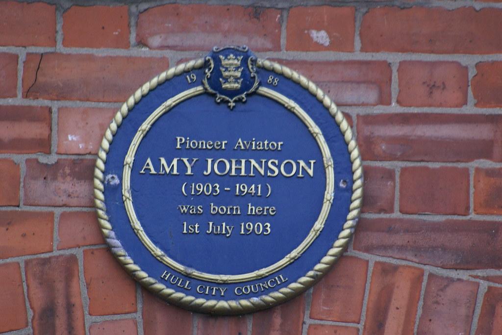 Amy Johnson Blue Plaque Open Plaques