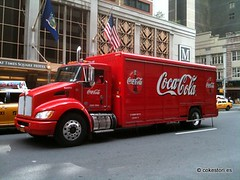 Coca-Cola hybrid electric truck in New York City