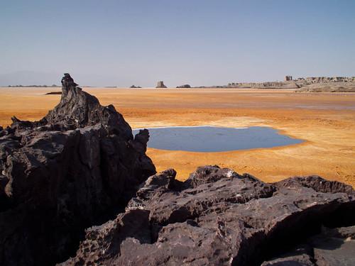 Dallol Volcano bishofit pond