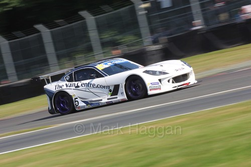Fraser Robertson in the Ginetta GT4 Supercup during the BTCC at Oulton Park, June 2016