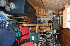 Cluttered shed