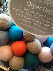 Dryer balls at the Soap Dispensary