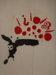 Owl catching Mouse - UTS Street Art