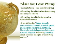 What is non fiction writing?
