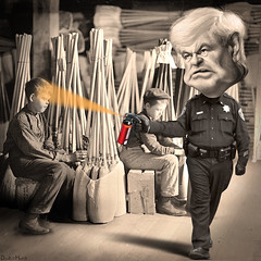 Newt Gingrich - Casually pepper-spraying cop (...