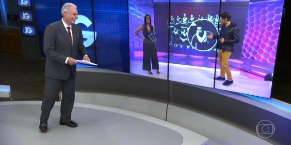 """No """"Jornal da Globo"""", William Waack relembra época na seleção de handebol"""