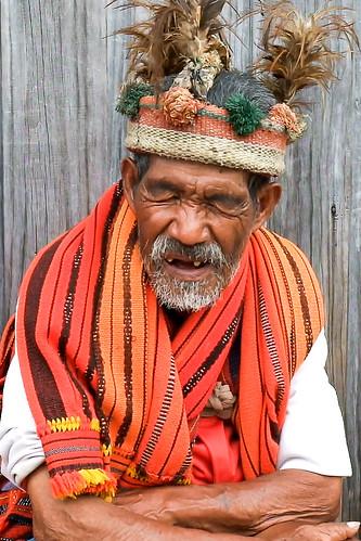 A laugh. Ifugao man, Banaue Viewpoint