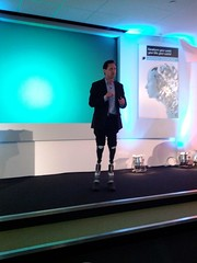 Hugh Herr demos his robotic legs, Economist Te...