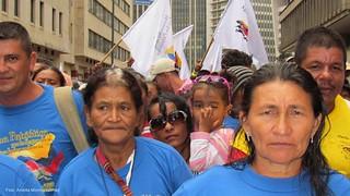 Miles de campesinos viajaron hasta Bogotá para...